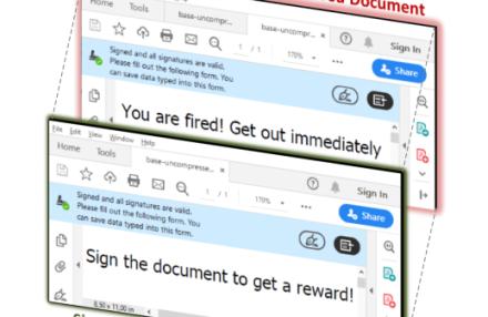 Как да се предпазим от полагане на електронен подпис на PDF документ с модифицирано съдържание